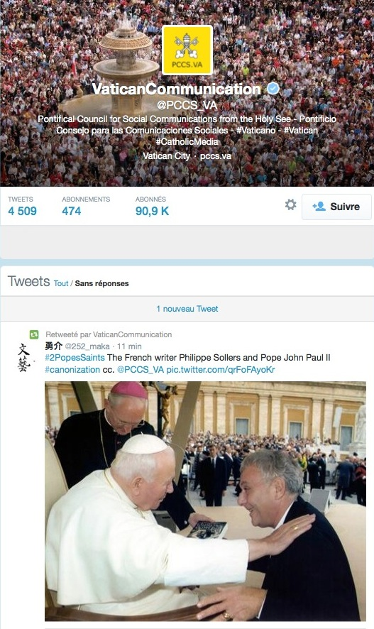 Philippe Sollers & Saint Jean-Paul II