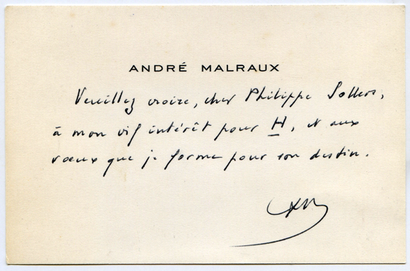 André Malraux à Philippe Sollers