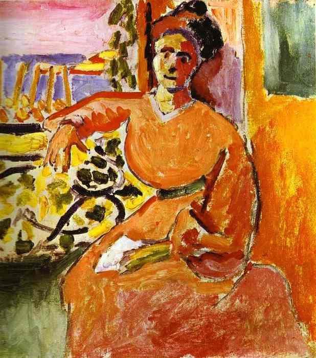Henri Matisse. A Woman Sitting before the Window 1905.