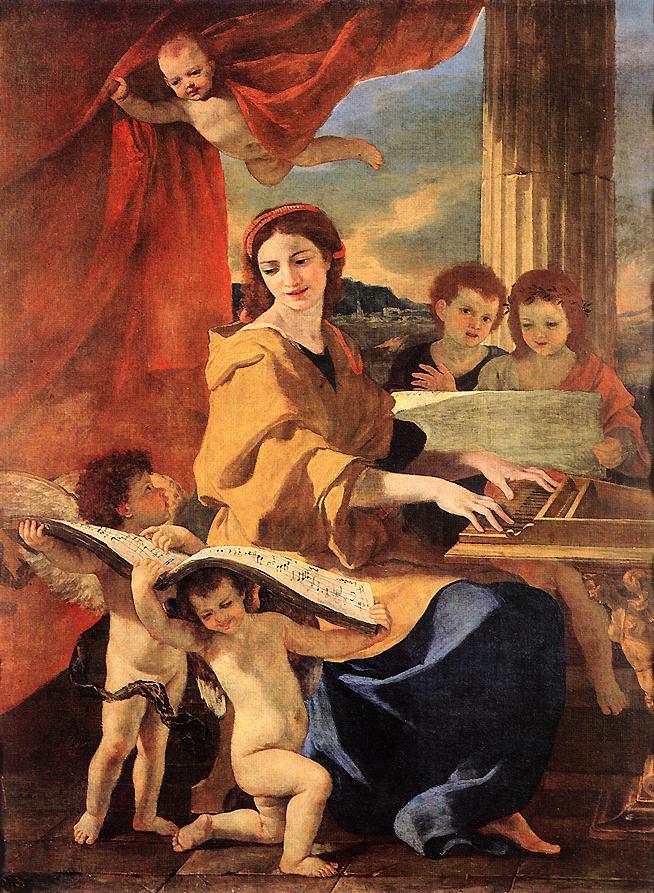 Poussin Sainte Cecile