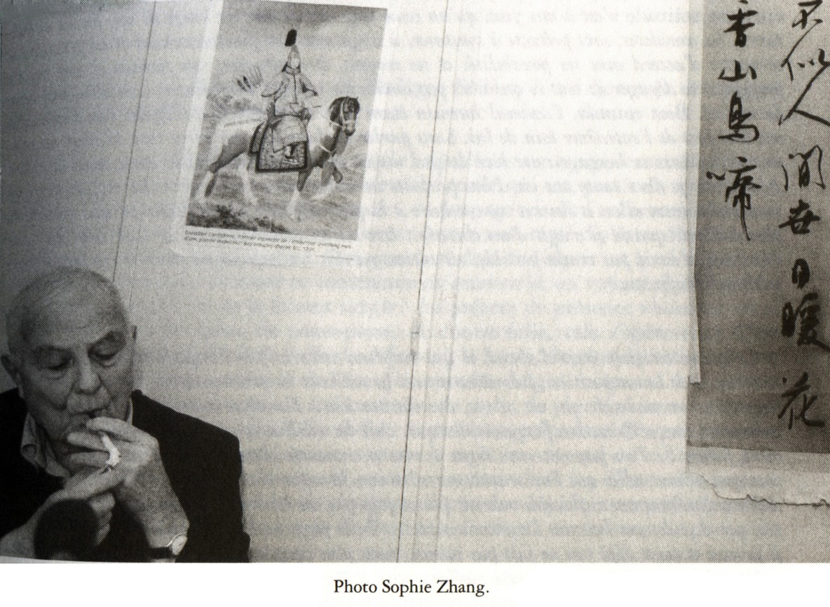 Philippe Sollers - photo Sophie Zhang