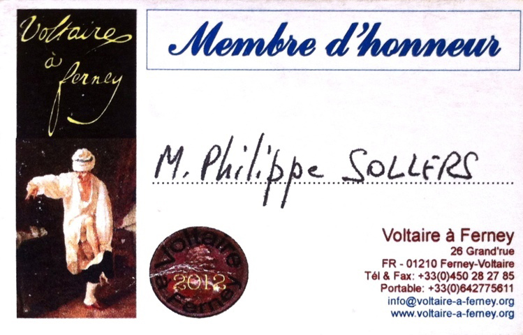Philippe Sollers - Voltaire à Ferney
