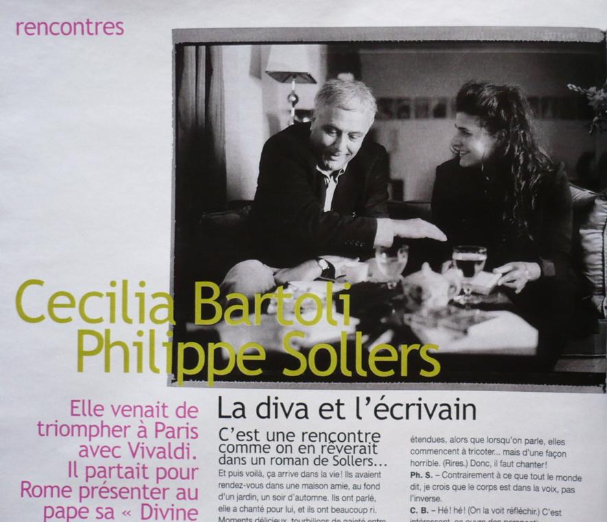 Philippe Sollers et Cecilia Bartoli (photo)