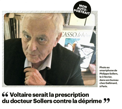 Philippe Sollers, photo au smartphone